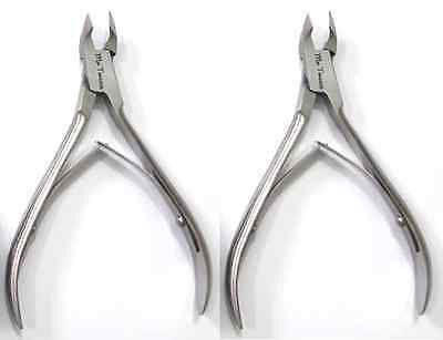 Mr Tweeze Stainless Steel Nail Nipper, Surgical Steel Grade (2 Pack)