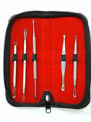 Mr Tweeze Stainless Steel 5 Piece Blackhead Remover Kit + Case!