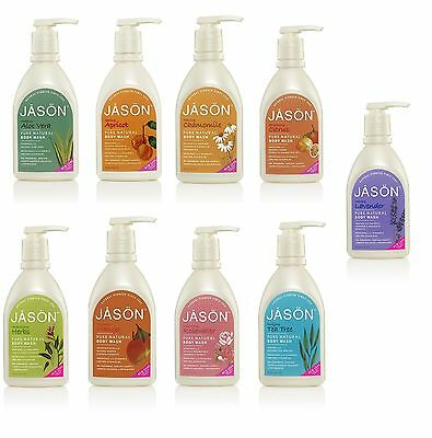 Jason Body Wash Natural Cosmetic Moisturising Cleansing Skin Care With Pump UK