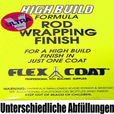Flex Coat High Build Lack Bindungslack verschiedene Gebinde Rutenbau Blank Kork