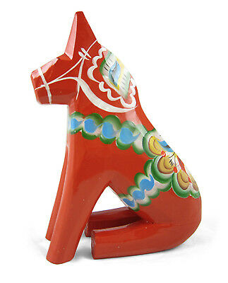 "NEW! Grannas A. Olsson 4.875"" (12.5cm) Red Sitting Dala Horse Swedish"
