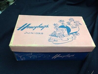 Honeybugs Shoes Juniors (Box Only )1950's Good Condition