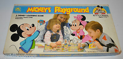 MICKEY'S PLAYGROUND vintage board game Walt Disney Learning Game 1988 complete