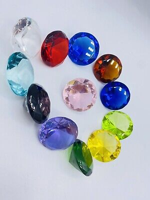 Christmas Special GIFT 12 Glass DIAMOND Shape Jewelry Paperweight 30mm Mixcolor