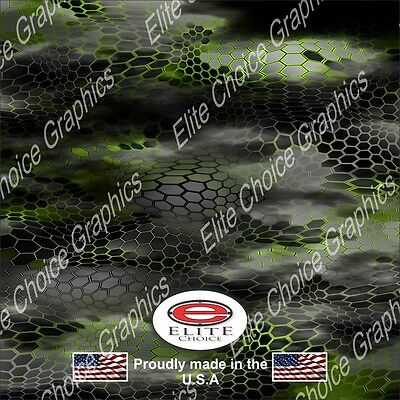 """Chameleon Hex 2 Green Wrap Vinyl Truck Camo Car SUV Real Camouflage 52""""x6ft"""