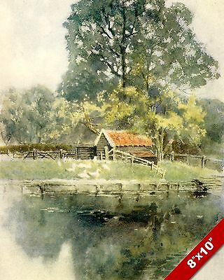 Suttons Gate Hornchurch England English Landscape Art Painting Real Canvas Print