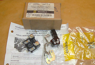 NEW Square D 9999 MX-11 Electrical Interlock Kit   9999MX11 Contactor