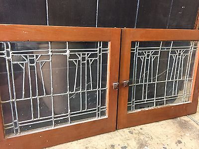Arts And Crafts Craftsman Style Leaded Art Glass Window