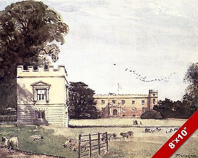 CHISWICK HOUSE GARDEN ENGLAND ENGLISH COUNTRYSIDE ART PAINTING REAL CANVAS PRINT