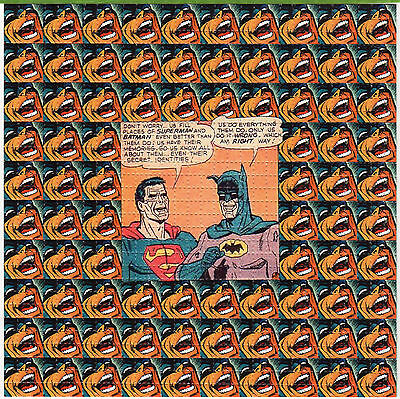 BATMAN & SUPERMAN TRIPPING BLOTTER ART Psychedelic Perforated Sheet Acid Free