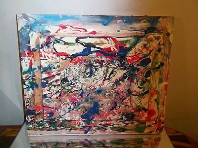 Canvas Painting By Musk Yai 12X14 Abstract Double Sided