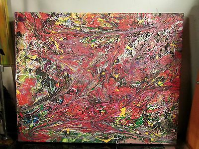 original painting canvas abstract by musk yai signed 16x20 2016 free shipping