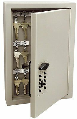 Key Lock Box Cabinet Locking Combination Steel Safe Wall Mount Secure Storage