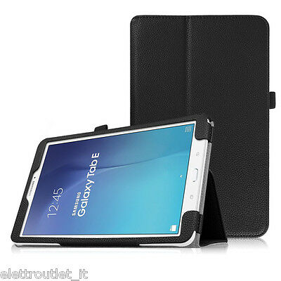 CUSTODIA COVER Integrale SMART SUPPORTO per Samsung Galaxy Tab E 9.6 T560 Nera