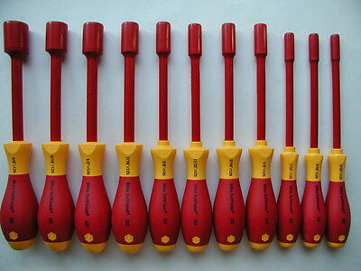 Wiha 11 Pc. Electrician's Insulated Inch Nut Driver Set 32296