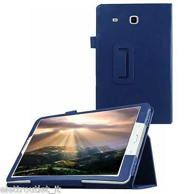 CUSTODIA COVER Integrale SMART SUPPORTO per Samsung Galaxy Tab E 9.6 T560 Blu
