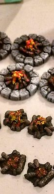 Legendary Realms Terrain - Accessory - Campfires, Set of 6