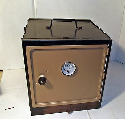 Vintage Coleman Folding Camping Oven With Oven  3 RackS