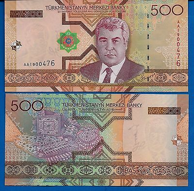 Turkmenistan P-19 500 Manat Year 2005 Uncirculated FREE SHIPPING