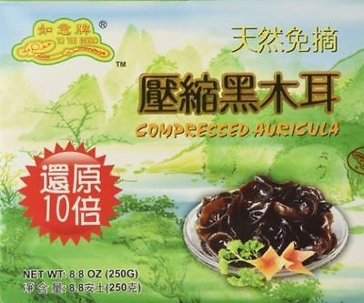 Dried All Natural Compressed Chinese Auricularia Black Fungus Mushroom 8.8oz