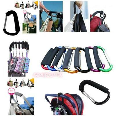 New Baby Buggy Stroller Parm Hook Mommy Hooks Pushchair Hanger Carabiner Tool 6L