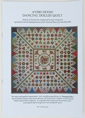 Dancing Dollies Quilt Pattern Ayers House Applique Patchwork Hexagons I Carrig