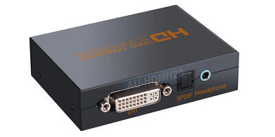 HDMI To Digital Coax S/PDIF + 3.5mm Audio Separator With DVI-D Video Output