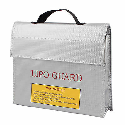 LiPo Safe Battery Charging Protection Bag Explosion Proof 240mmx65mmx180mm New