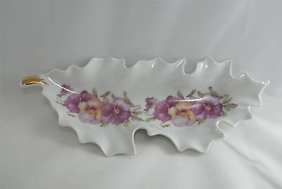 Mitterteich Candy Dish Pansy Lavender Purple Leaf Shaped