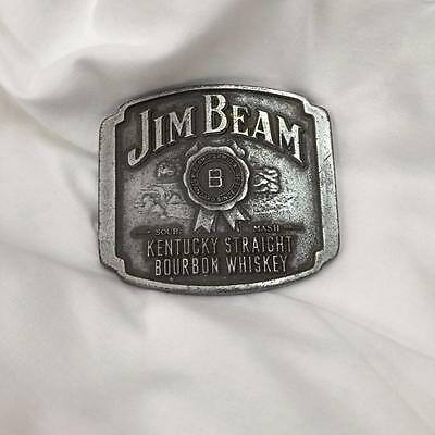 Silver Jim Beam Belt Buckle x 1 (metal)