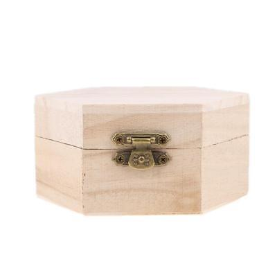 Wooden Unfinished Wood Jewelry Box Gift Box for Kids DIY Crafts Woodcrafts