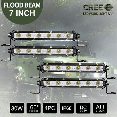 6512W 9inch CREE Round LED Driving Lights Bar 12V 24V 4X4 Spotlights Black