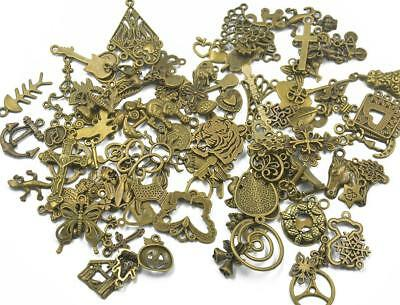 100pcs Assorted Shape Antique Bronze Charms/Pendant Findings Jewelry Making