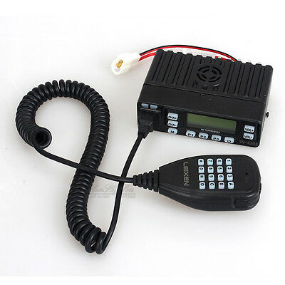 Black LEIXEN VV-898S 25W 199CH VHF/UHF VOX Dual Band Car Mobile 2Way Transceiver