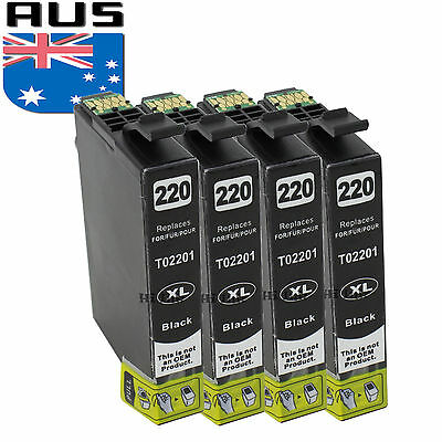 4 Pack NON OEM T220XL Ink CARTRIDGE FOR Epson WorkForce WF-2630 WF-2650 WF-2660