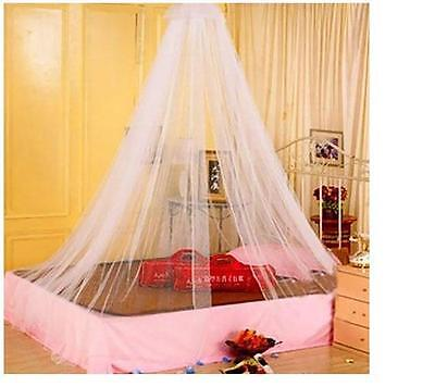 Elegant Round Lace Bed Mosquito Netting Mesh Canopy Princess Dome Bedding Net