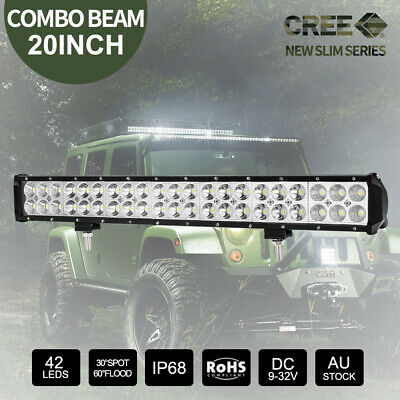 "20"" inch 294W CREE LED Light Bar Spot Flood Combo Work Driving Off Road 12V 24V"