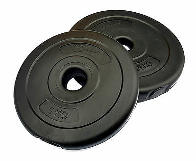 "Vinyl Weight Plates 1"" Standard Dumbbell Disc Barbell Plate"