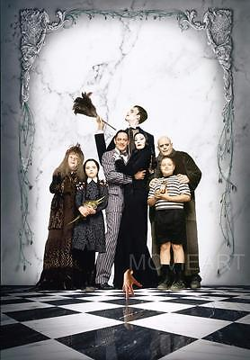 The Addams Family Portrait Textless Movie Poster Film A4 A3 Art Print Cinema