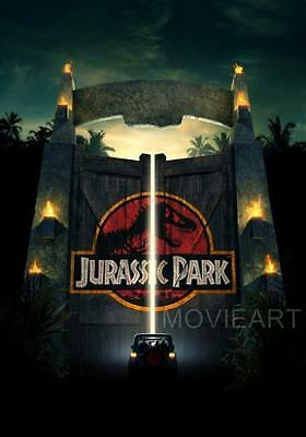 Jurassic Park Gates Textless Movie Poster Film A4 A3 Art Print Cinema