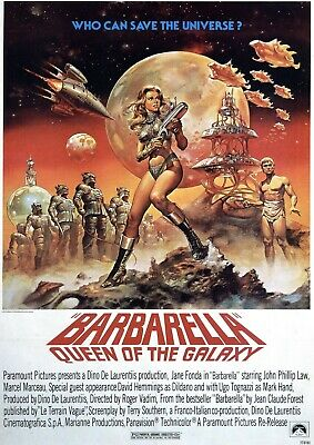 Barbarella Vintage Movie Poster  Film A4 A3 Art Print Cinema