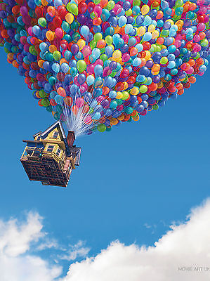Up Pixar Balloons Movie Poster  Film A4 A3 Art Print Cinema