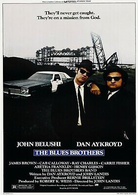 The Blues Brothers Movie Poster Film A4 A3 Art Print Cinema