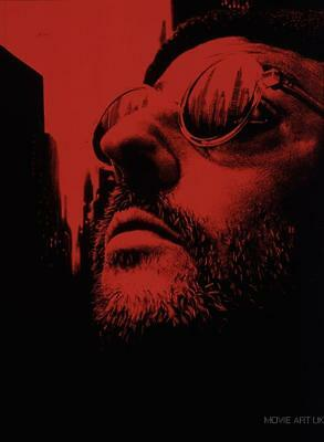 Leon Textless Red Movie Poster Film A4 A3 Art Print Cinema