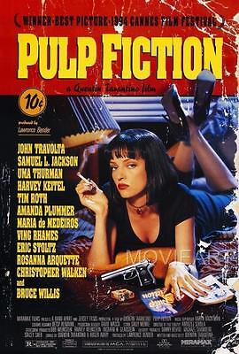 Pulp Fiction Movie Poster Film A4 A3 Art Print Cinema