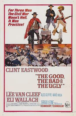 The Good, The Bad And The Ugly Vintage Movie Poster Film A4 A3 Art Print Cinema