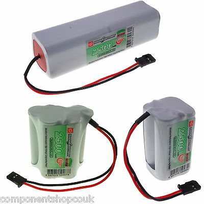 4.8v 6v 9.6v AA 2500mAh VapexTech Low Self Discharge TX RX Battery Packs