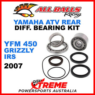 25-2097 Yamaha YFM 450 Grizzly IRS 2007 ATV Rear Differential Bearing Kit