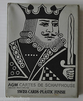 BRIDGE , ROMME, CANASTA Swiss Playing Cards AGM Cartes Schaffhouse