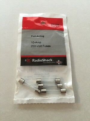New!! Fast Acting 10 Amp 250 Volt Fuses  270-1015          - Pkg of 4 -
